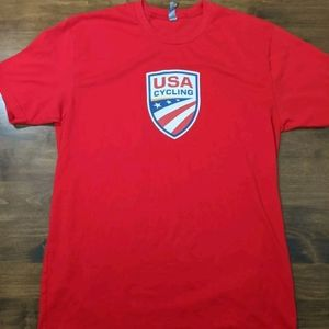 USA Cycling T-shirt Red Mens Size Large